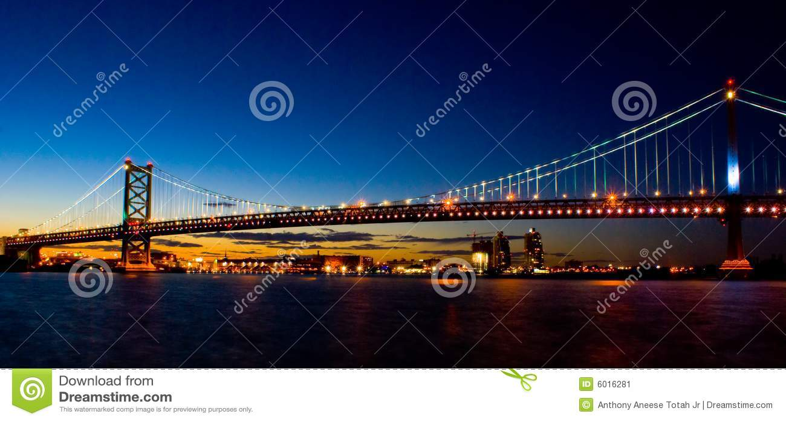 Benjamin Franklin Bridge at Sunset