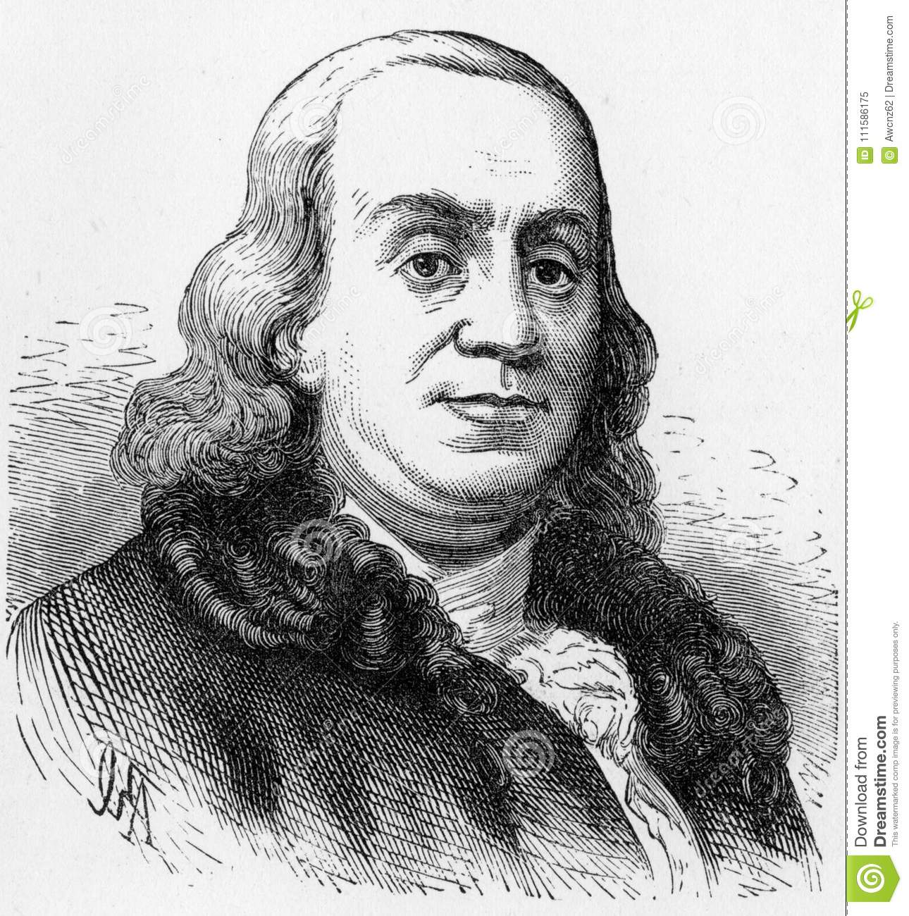 Benjamin Franklin, Founding Father of the United States,