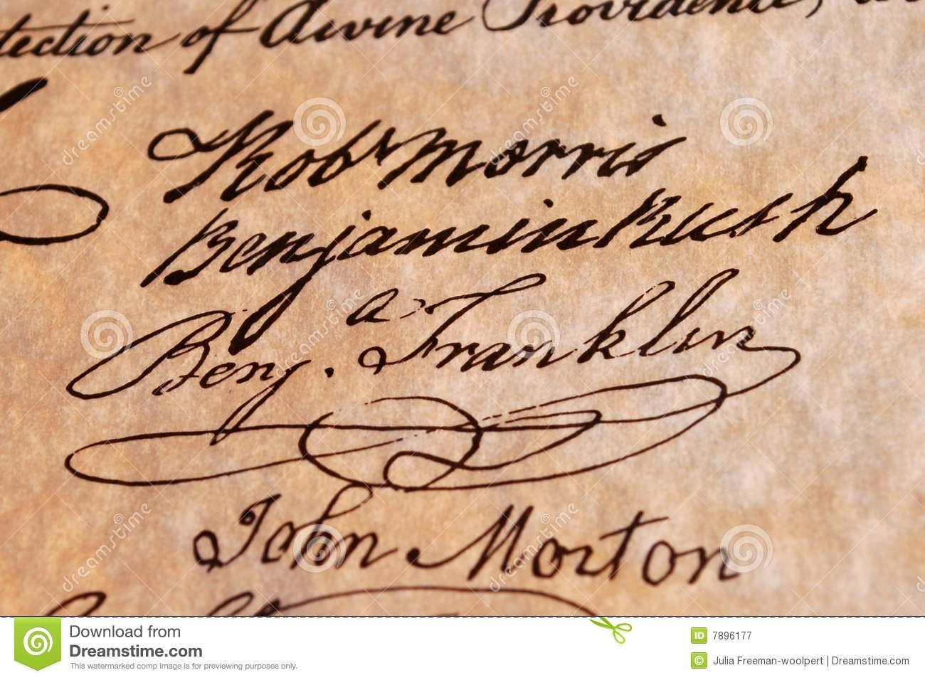 Benjamin Franklin s Signature