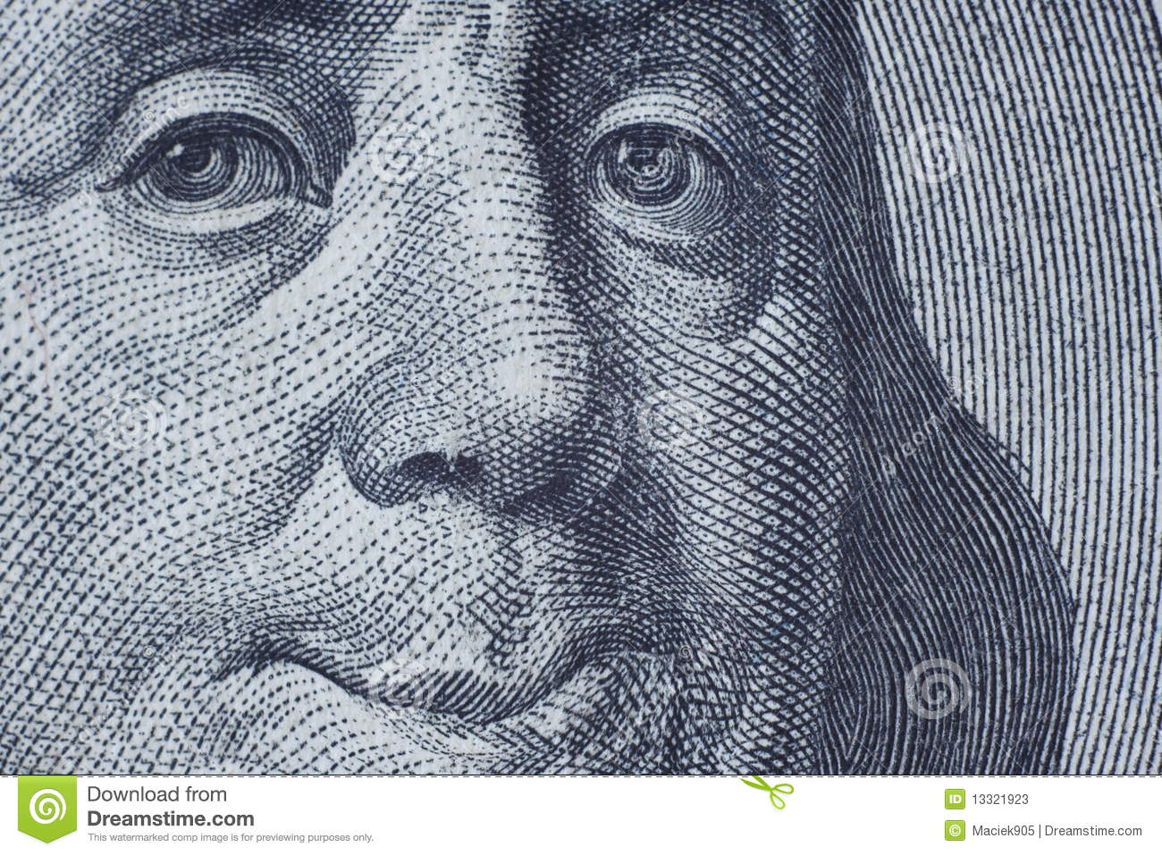 Benjamin Franklin smiling to you.