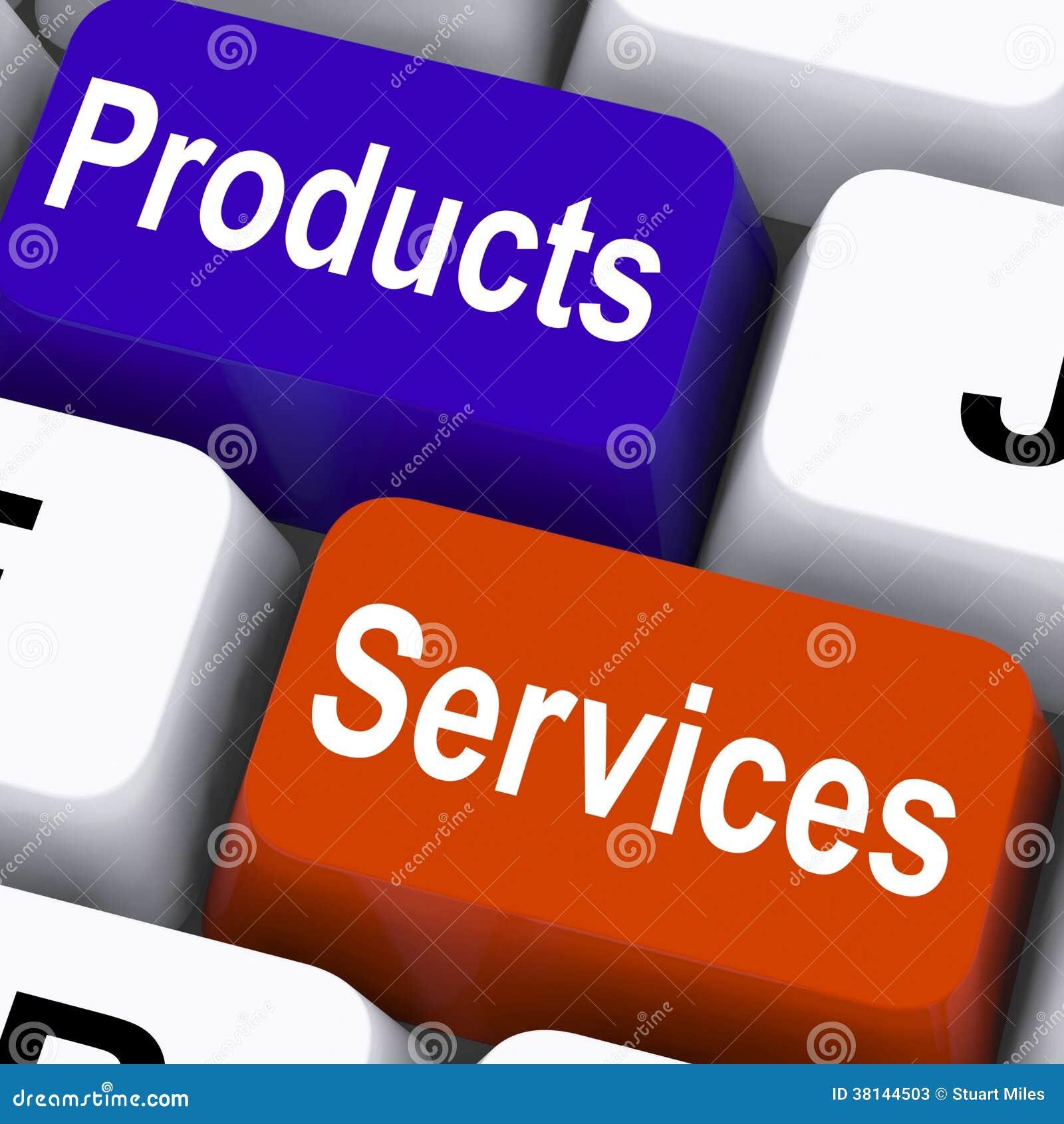 0ea7dc7a1a2a4 Bens De Produtos Serviços Chaves Mostrar Empresa Ilustração Stock ...