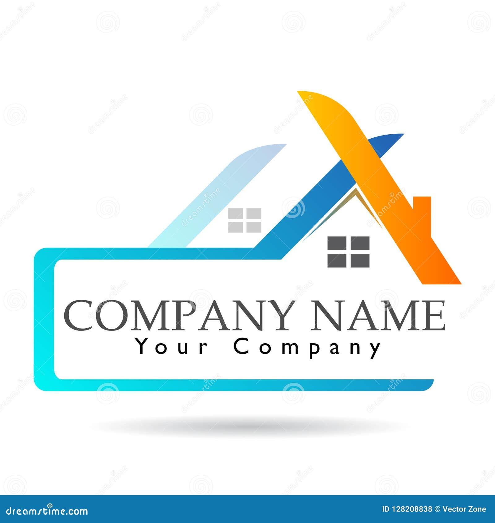 Bens imobiliários e logotipo home Megalópole, construção, sinal do elemento do ícone do logotipo do conceito da empresa no fundo