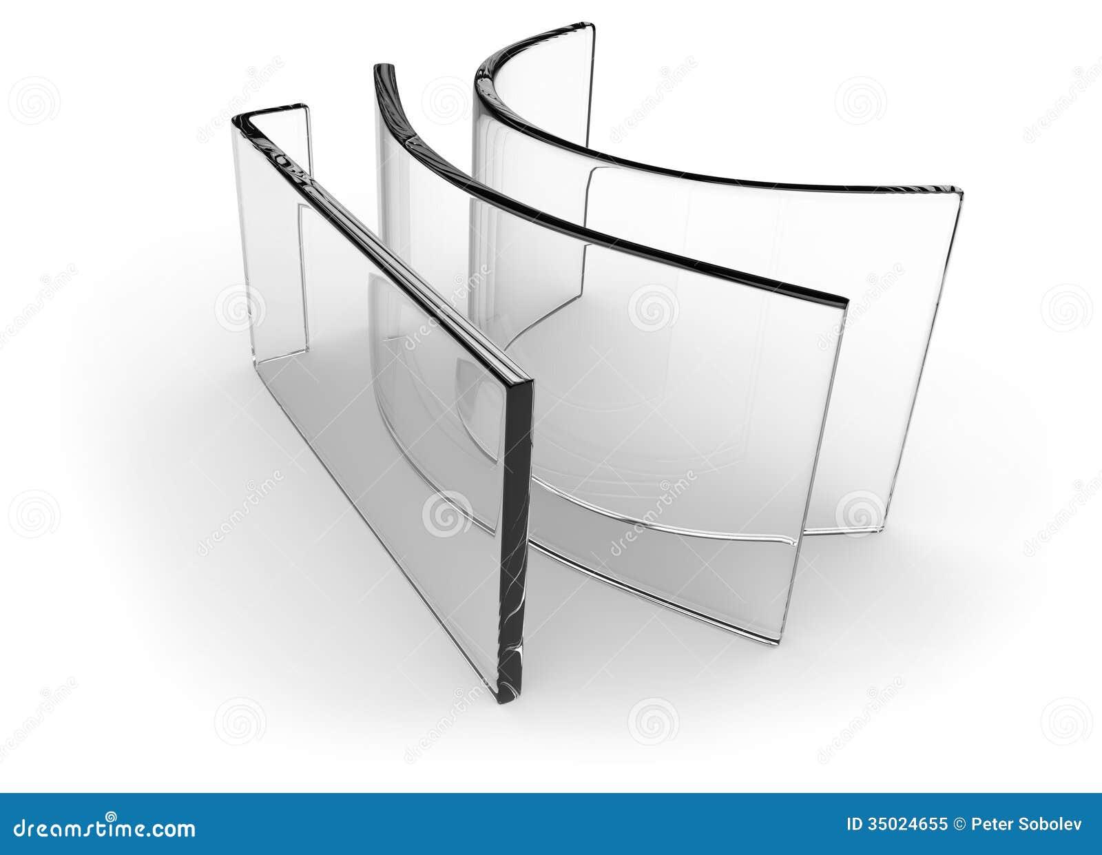 Bent Glass Royalty Free Stock Photo Image 35024655