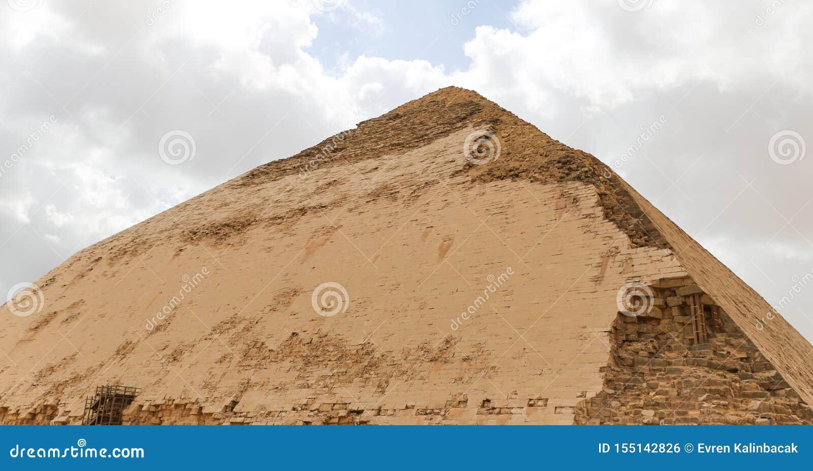Bent Pyramid i nekropol av Dahshur, Kairo, Egypten