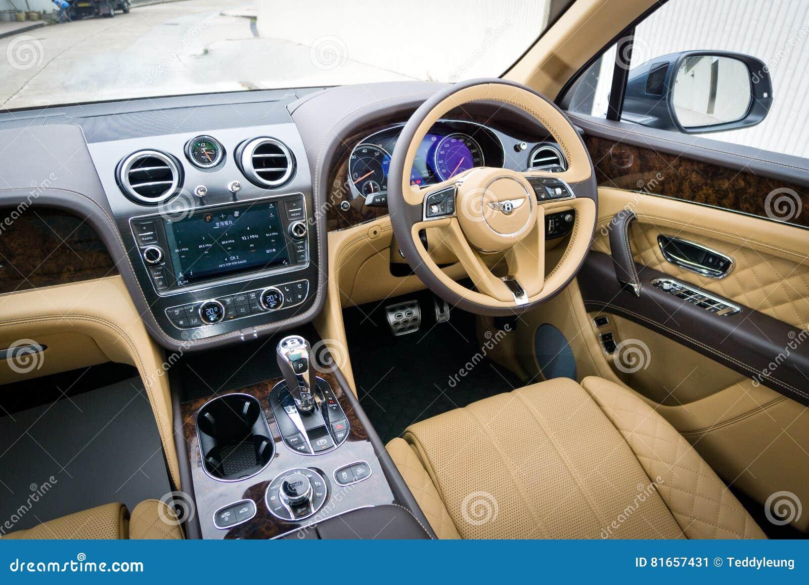 Bentley Bentayga W12 Interior Editorial Photo Image Of Road Speed 81657431