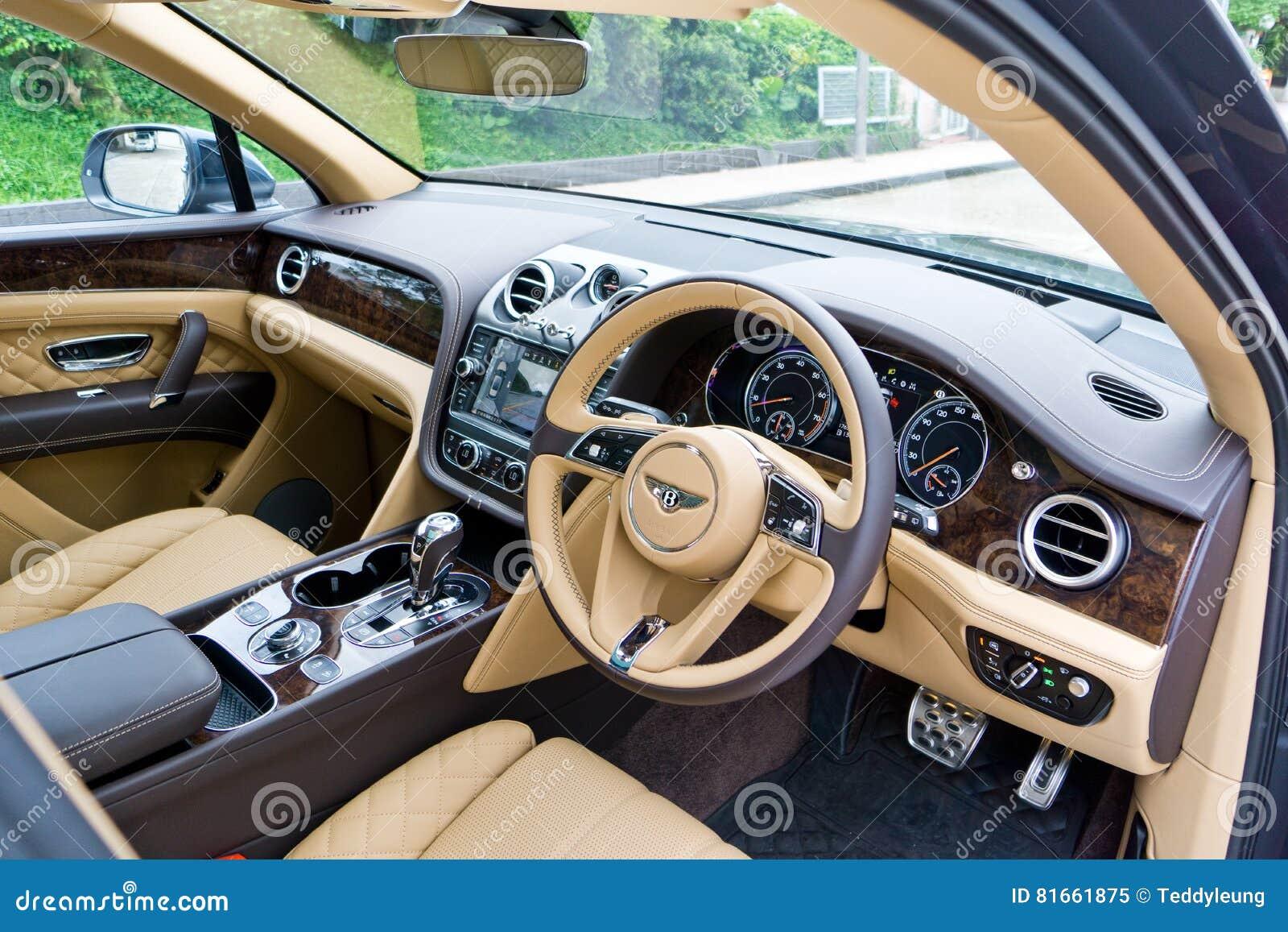 Bentley Bentayga W12 Interior Editorial Image Image Of Sport Automobile 81661875