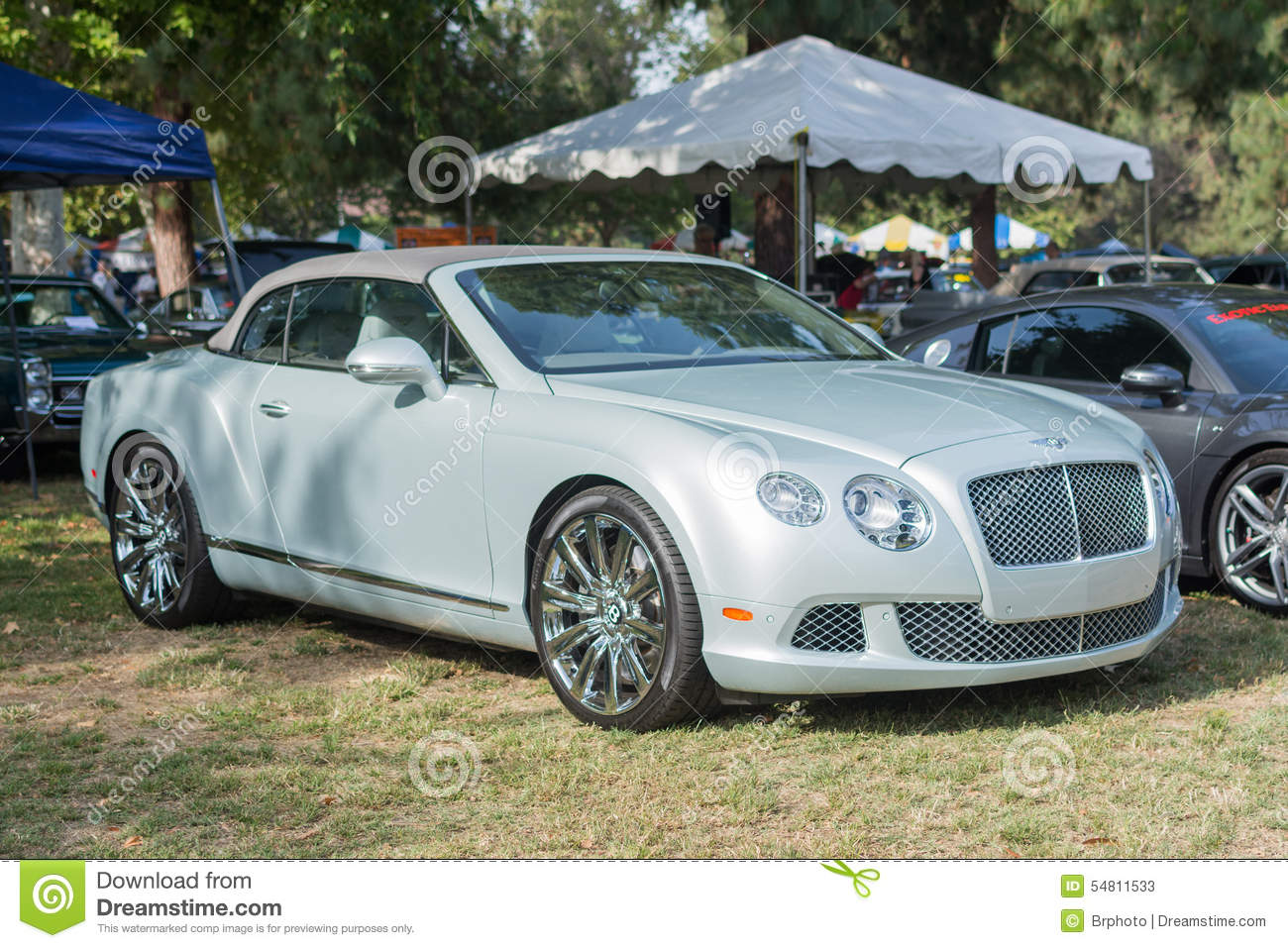 Bentley Continental GTC Car On Display Editorial Stock Photo - Image