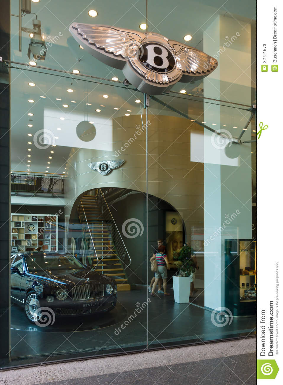Bentley dealership on friedrichstrasse editorial stock for Bentley motors limited dream cars