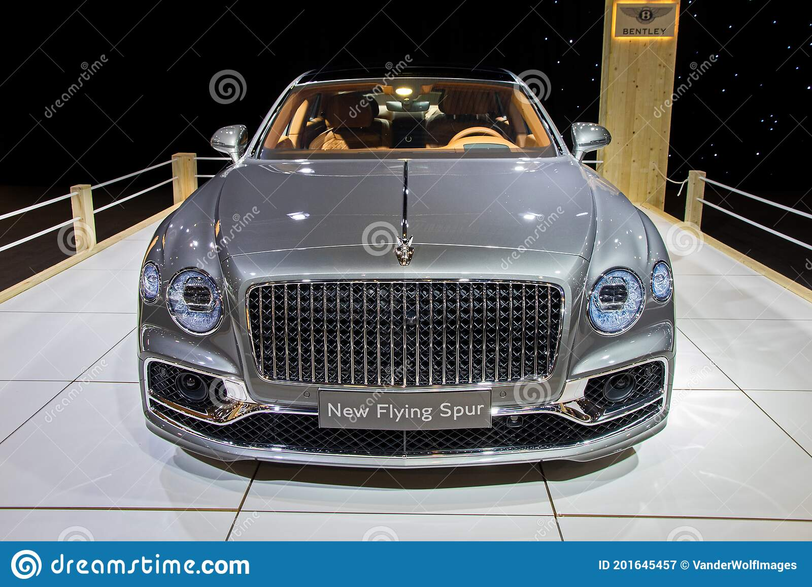 Bentley Flying Spur Luxury Car Showcased At The Autosalon 2020 Motor Show Brussels Belgium January 9 2020 Editorial Photography Image Of Showroom Bentley 201645457