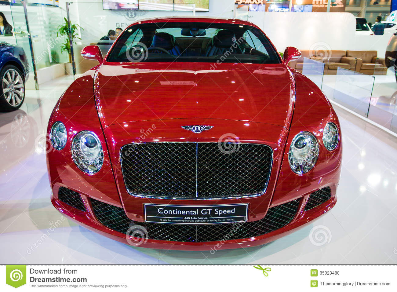 Bentley Motors Continental Gt V8 Display On Stage