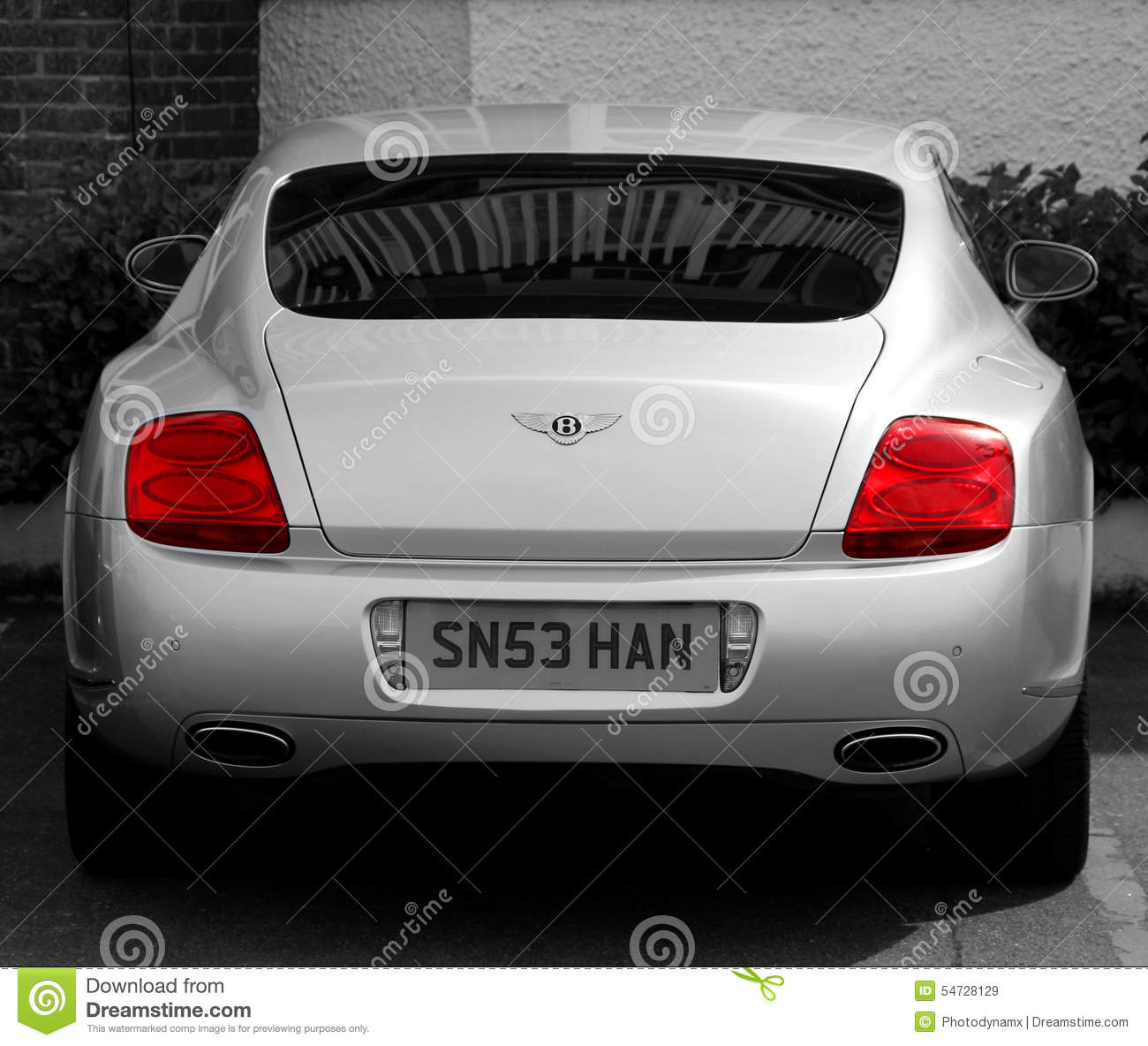 Bentley Rear View Profile Editorial Stock Image Image Of British