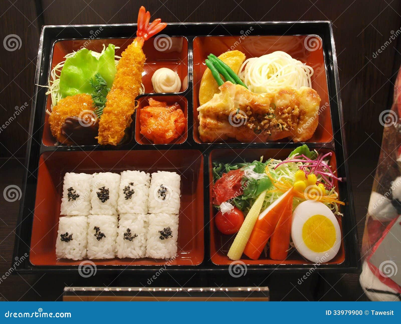 Bento Japanese Food Set In Box Stock Photo Image 33979900