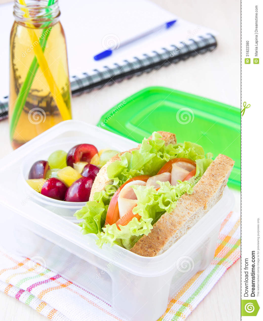 bento lunch for your child in school box with a healthy sandwic stock photo image 31822380. Black Bedroom Furniture Sets. Home Design Ideas