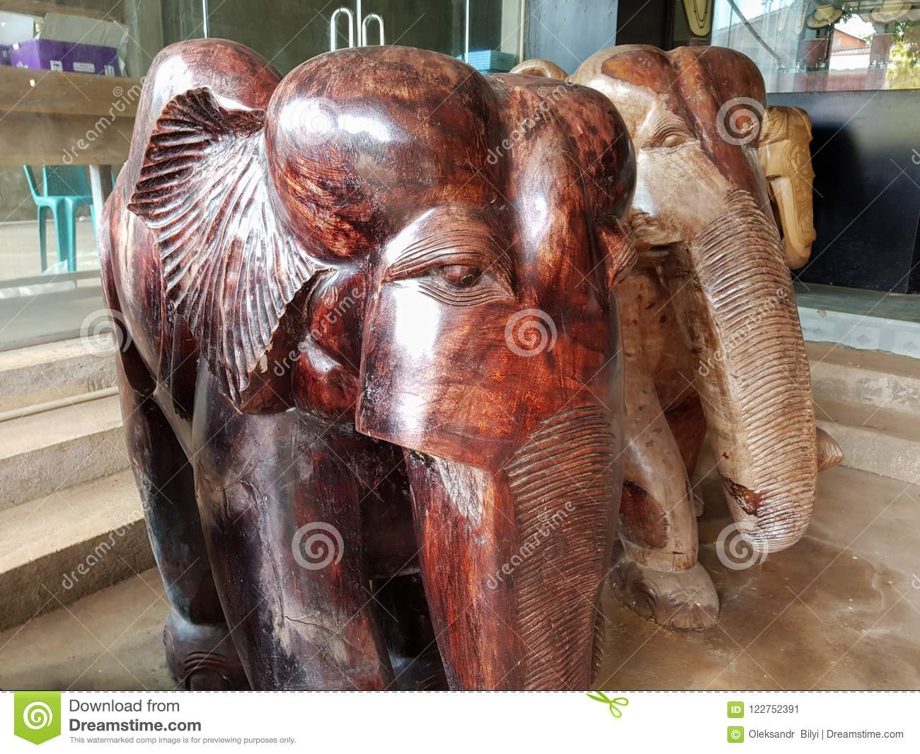 Bentota Sri Lanka May 04 2018 Traditional Large Wooden