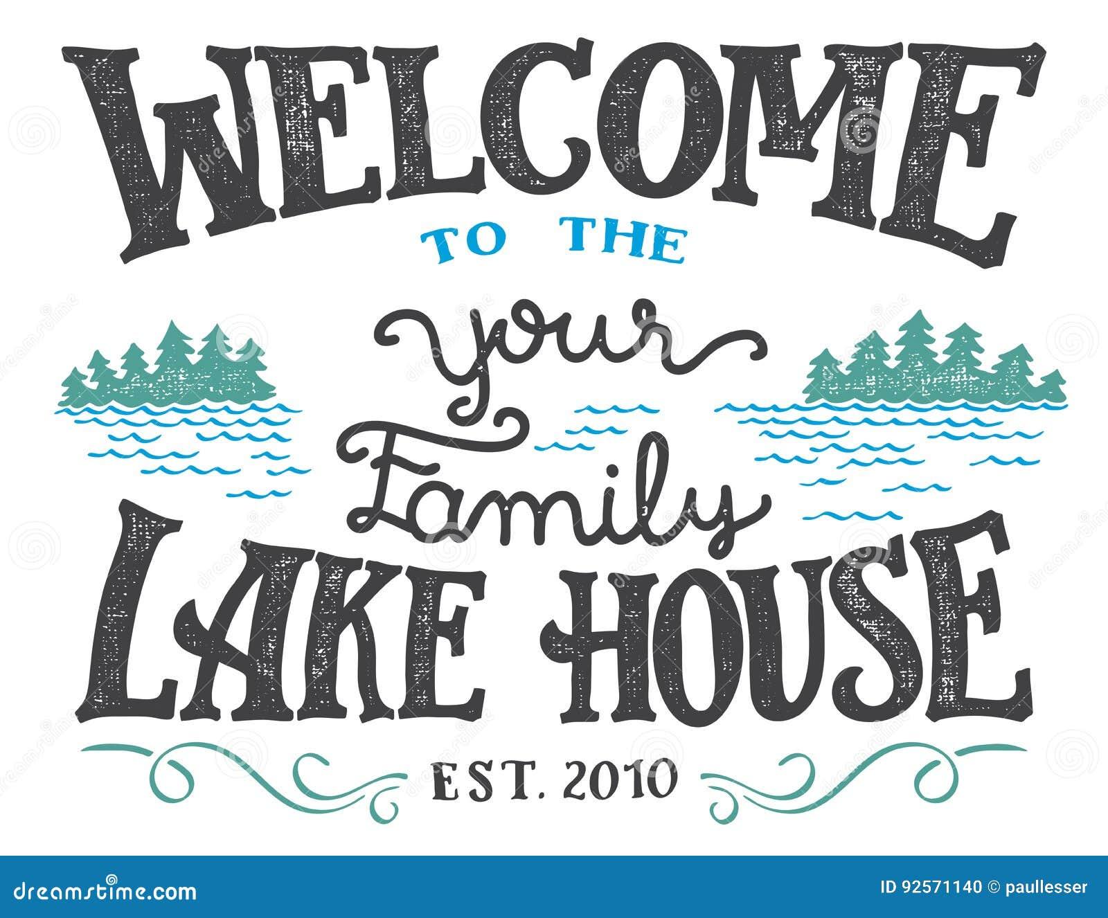 Benvenuto al segno della casa del lago