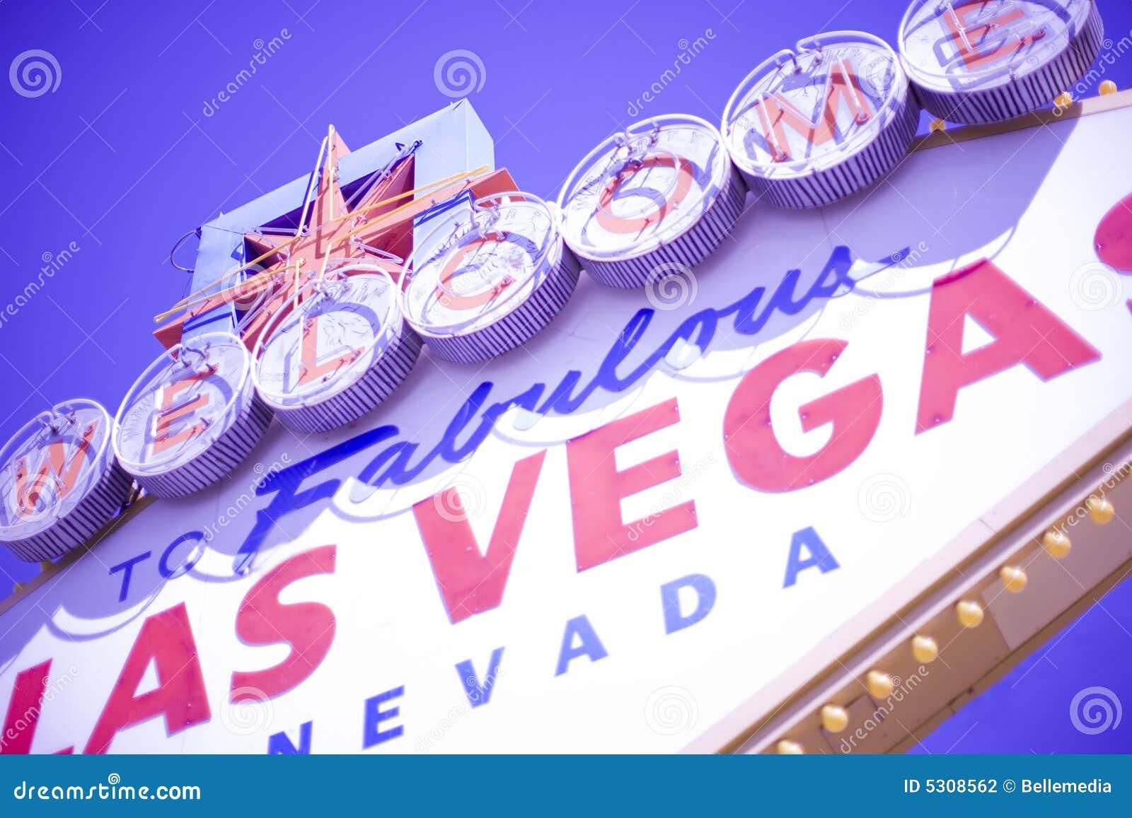 Download Benvenuto di Las Vegas fotografia stock. Immagine di itinerario - 5308562