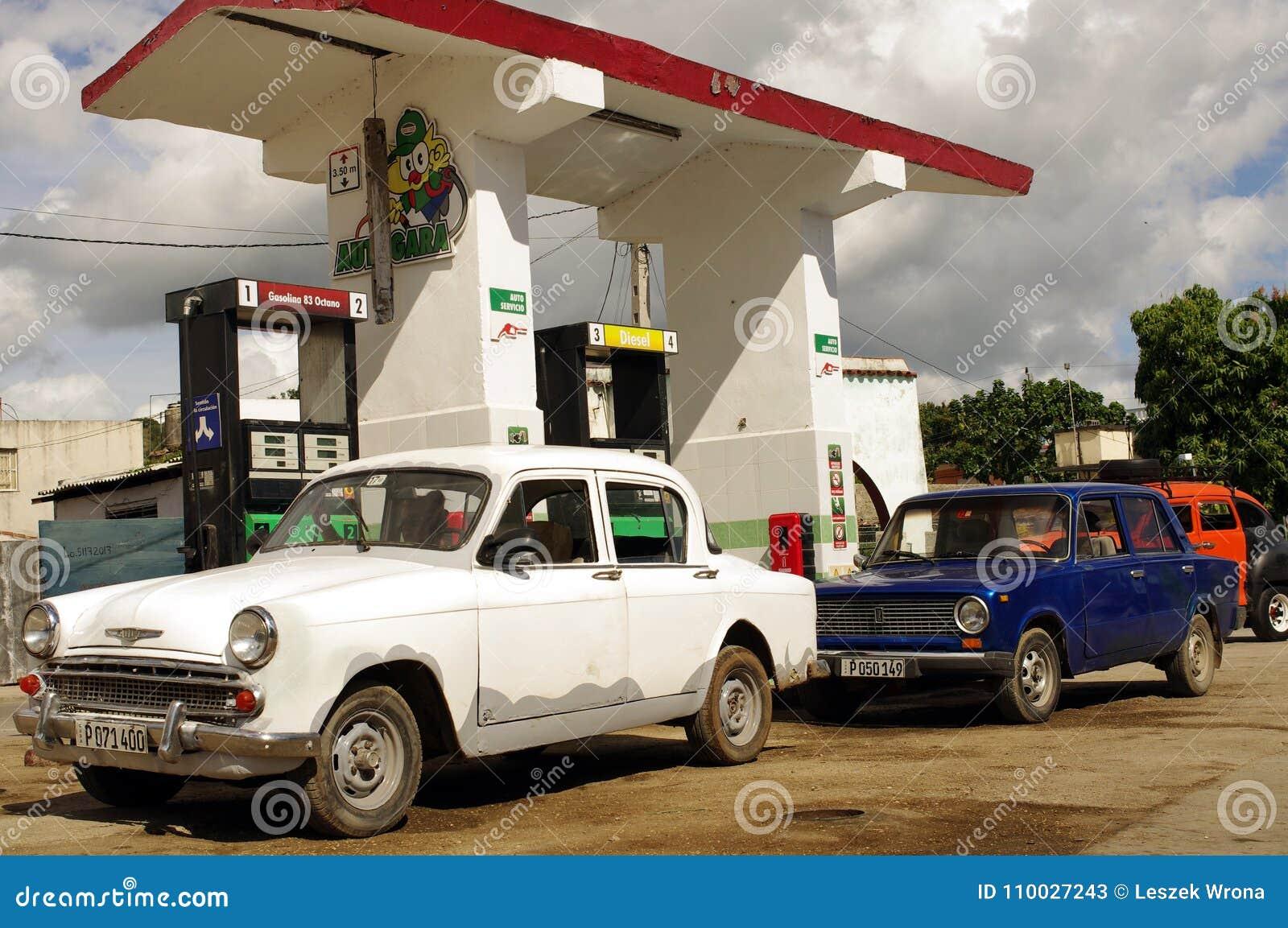 Benzinestation in Cuba
