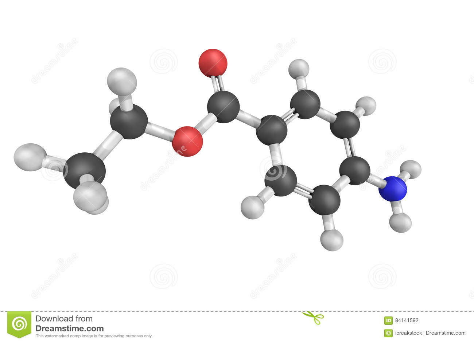 Benzocaine en lokal bedövningsmedel som används gemensamt som ett aktuellt, smärtar r