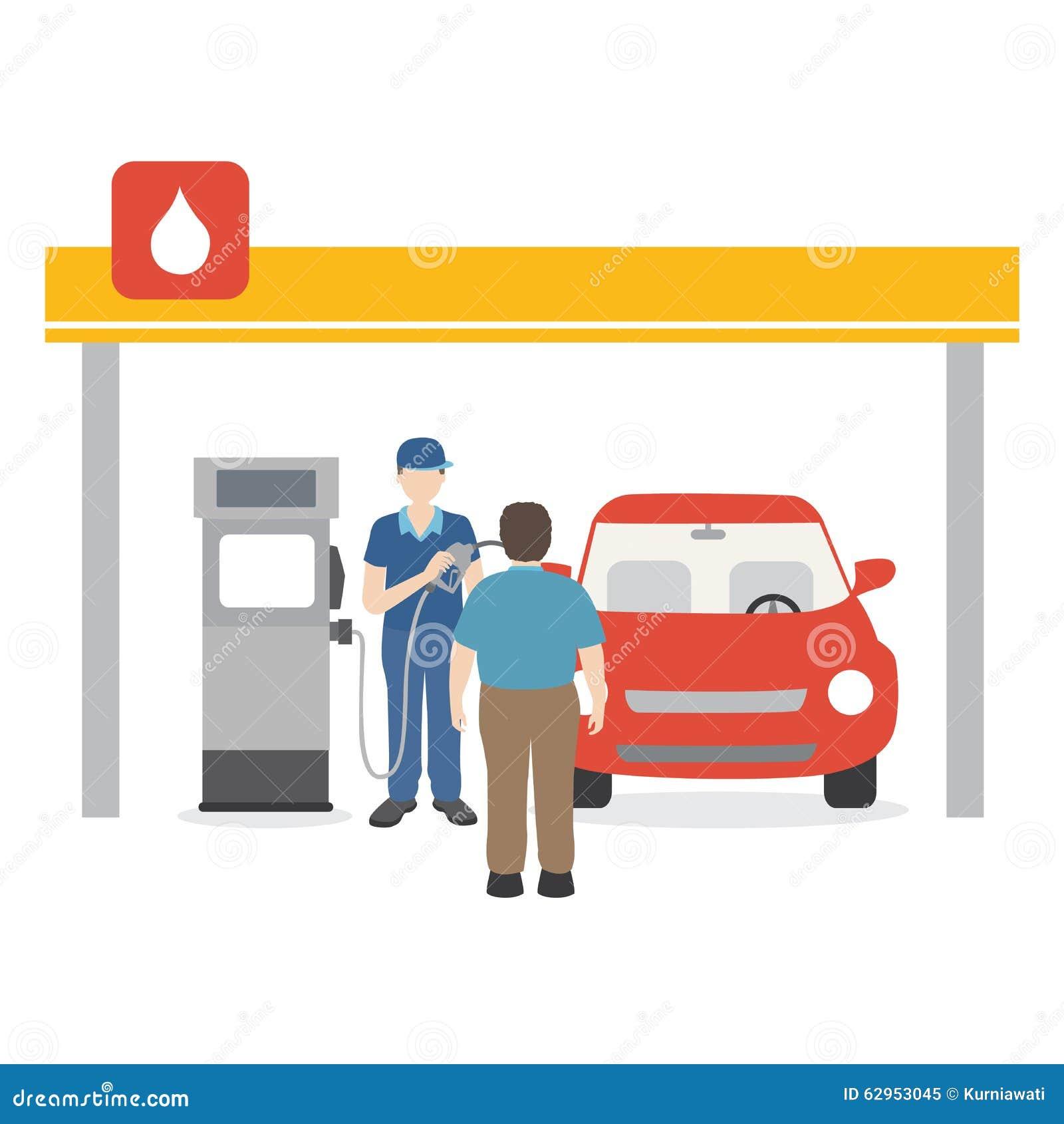 Benzyna mężczyzna wypełnia w górę paliwa w samochód