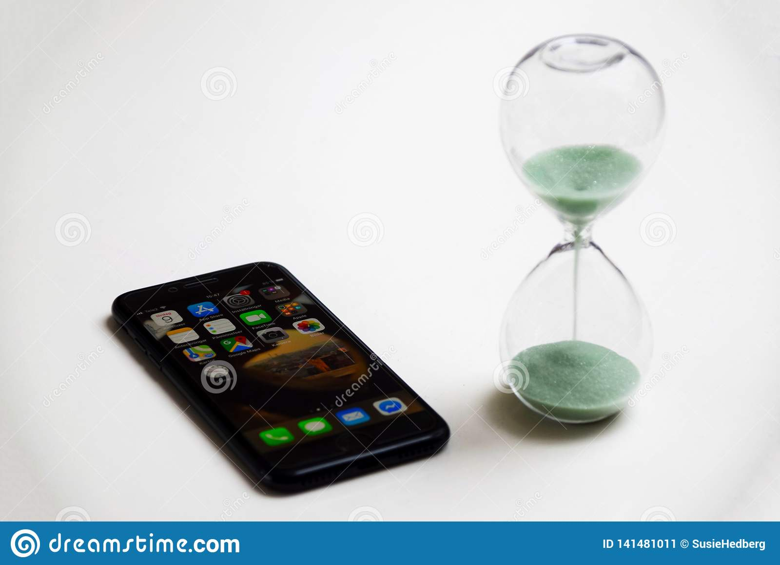 Beperk de tijd aan smartphone wordt doorgebracht die
