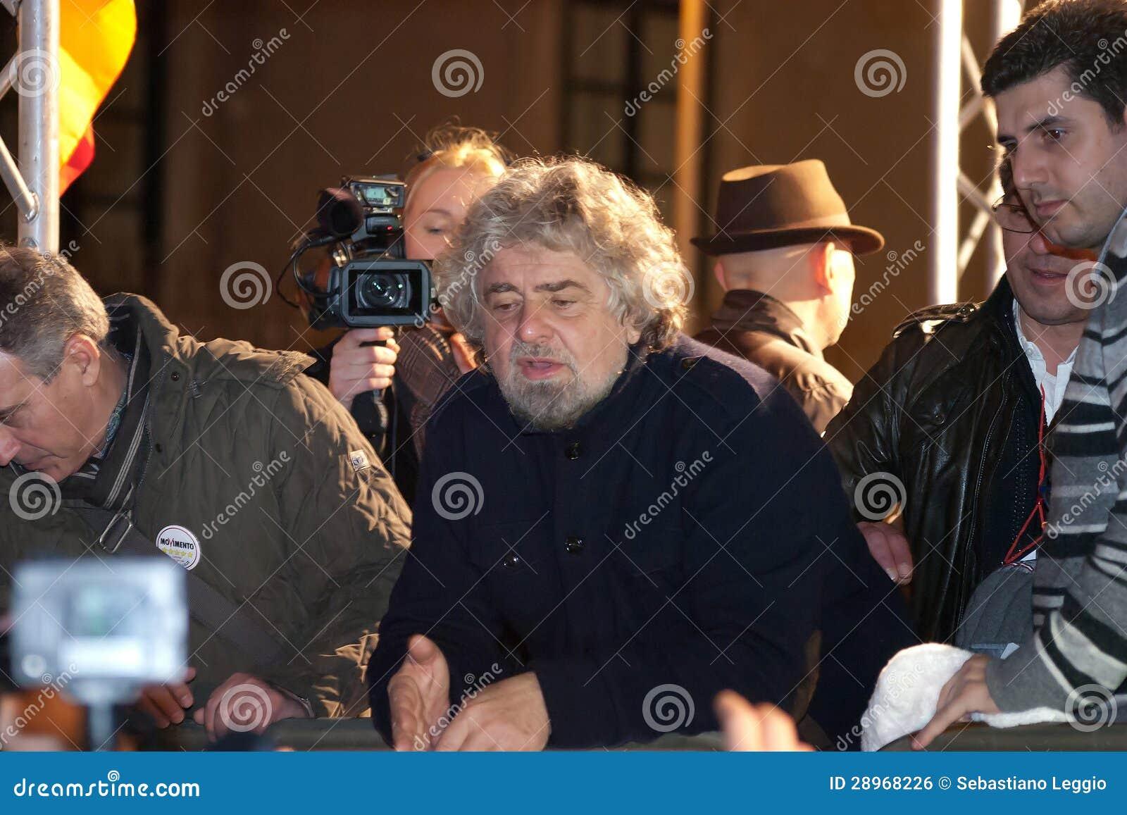Beppe Grillo lider włoski ruch polityczny Movim