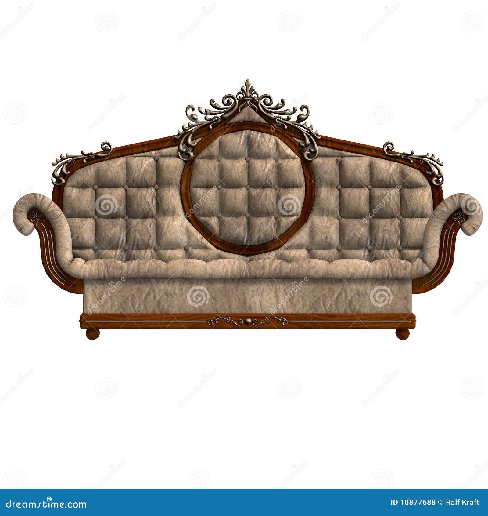 bequemes sofa von louis xv lizenzfreie stockfotos bild 10877688. Black Bedroom Furniture Sets. Home Design Ideas
