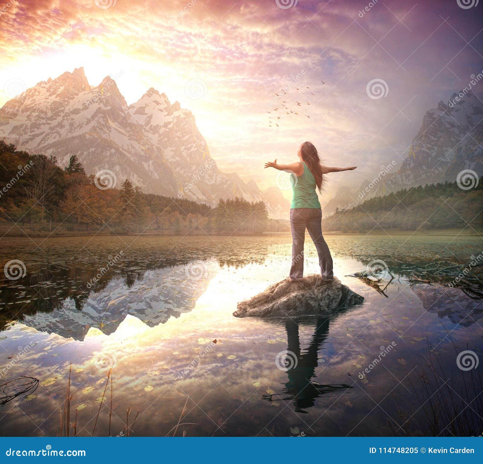 Beröm på morgonsoluppgång