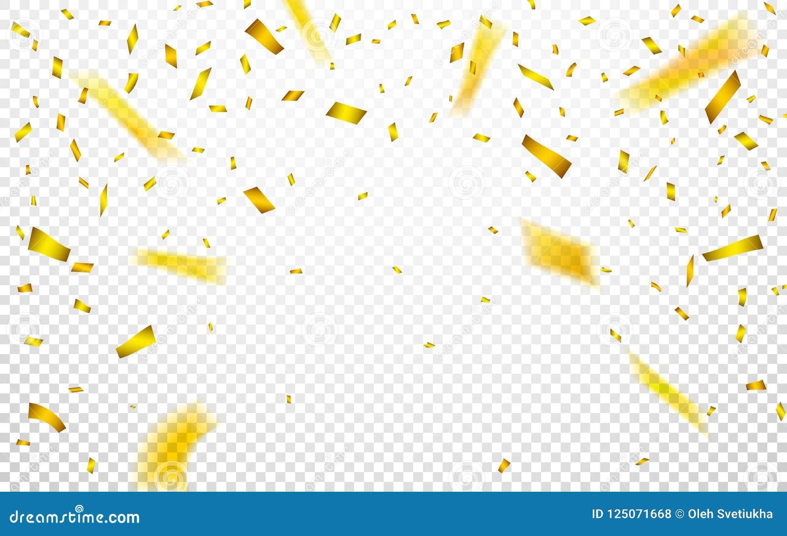 Berömbakgrundsmall med guld- konfettier också vektor för coreldrawillustration