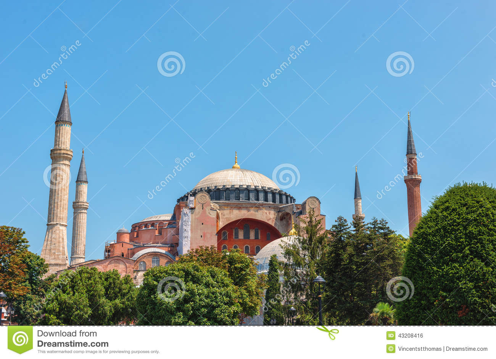 Download Berömd Hagiaistanbul Sophia Arkivfoto - Bild av sophia, byzantine: 43208416
