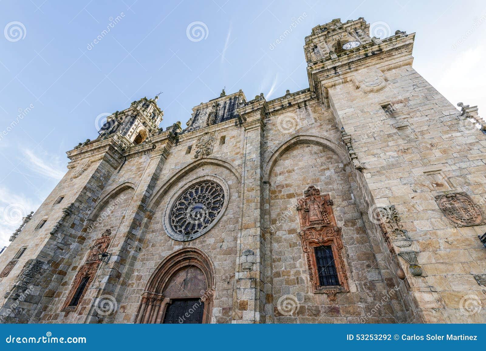 Berömd kyrka i Mondonedo, Lugo
