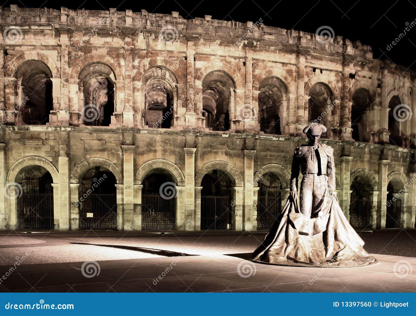 Berömd staty för bullfighter