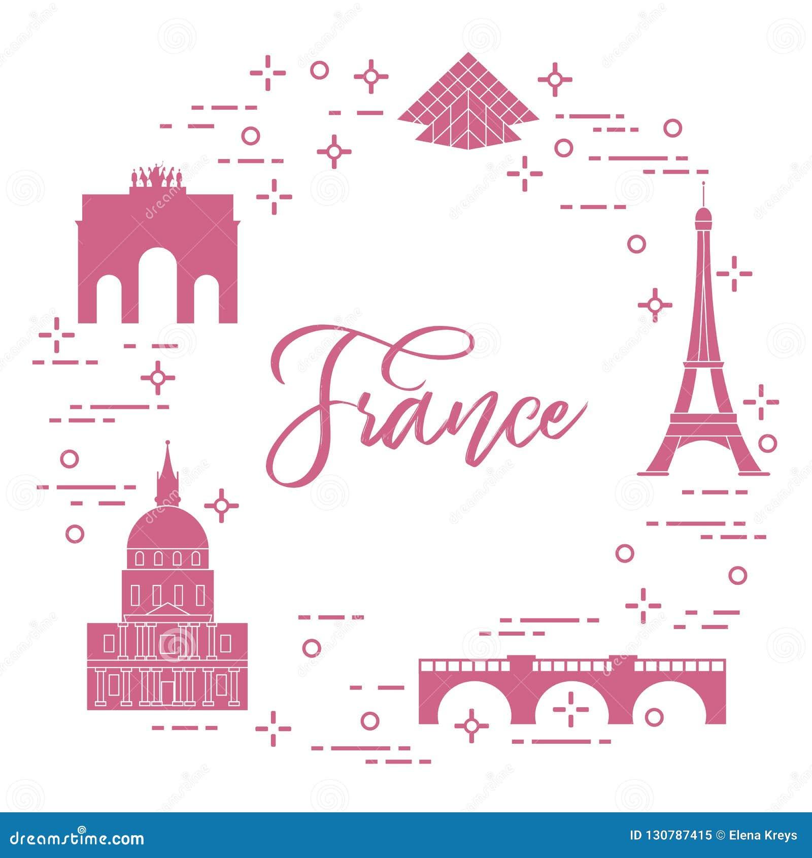 Berömda byggnader av Paris Symboler och gränsmärken