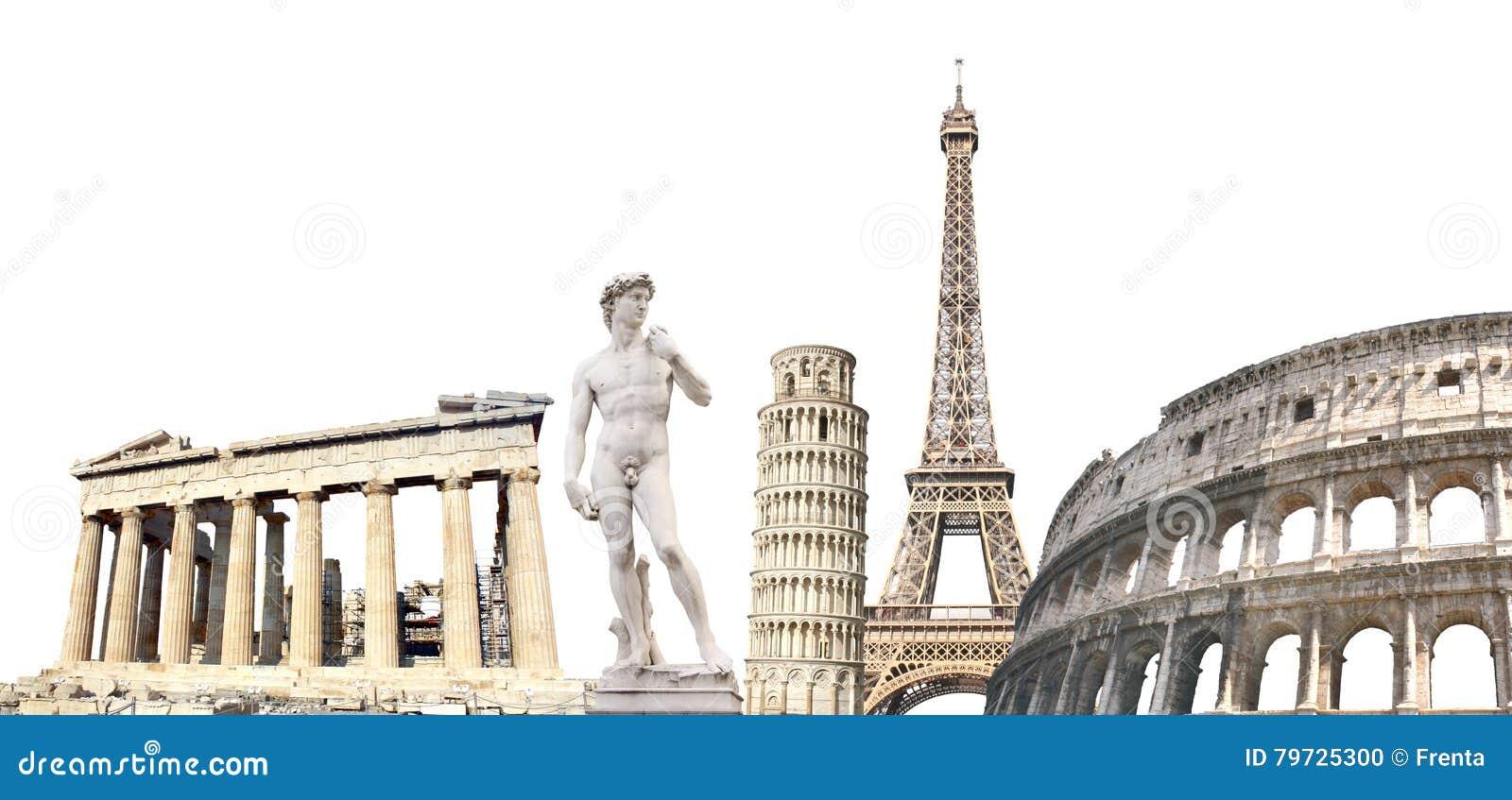 Berömda monument av Europa