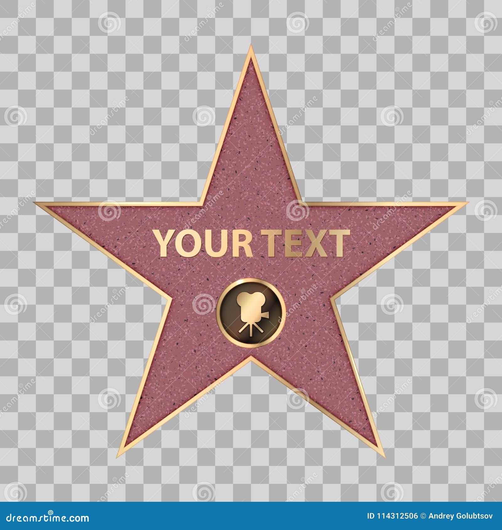 Berömmelse för kändisen för den Hollywood stjärnan går vektorn