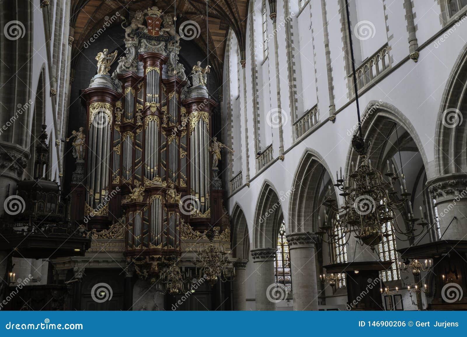 Berömt organ av l kyrka Haarlem för St Bavo
