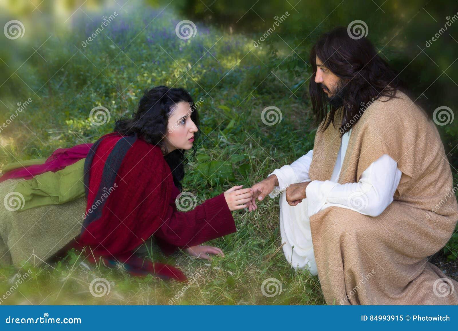 Berühren von Jesus