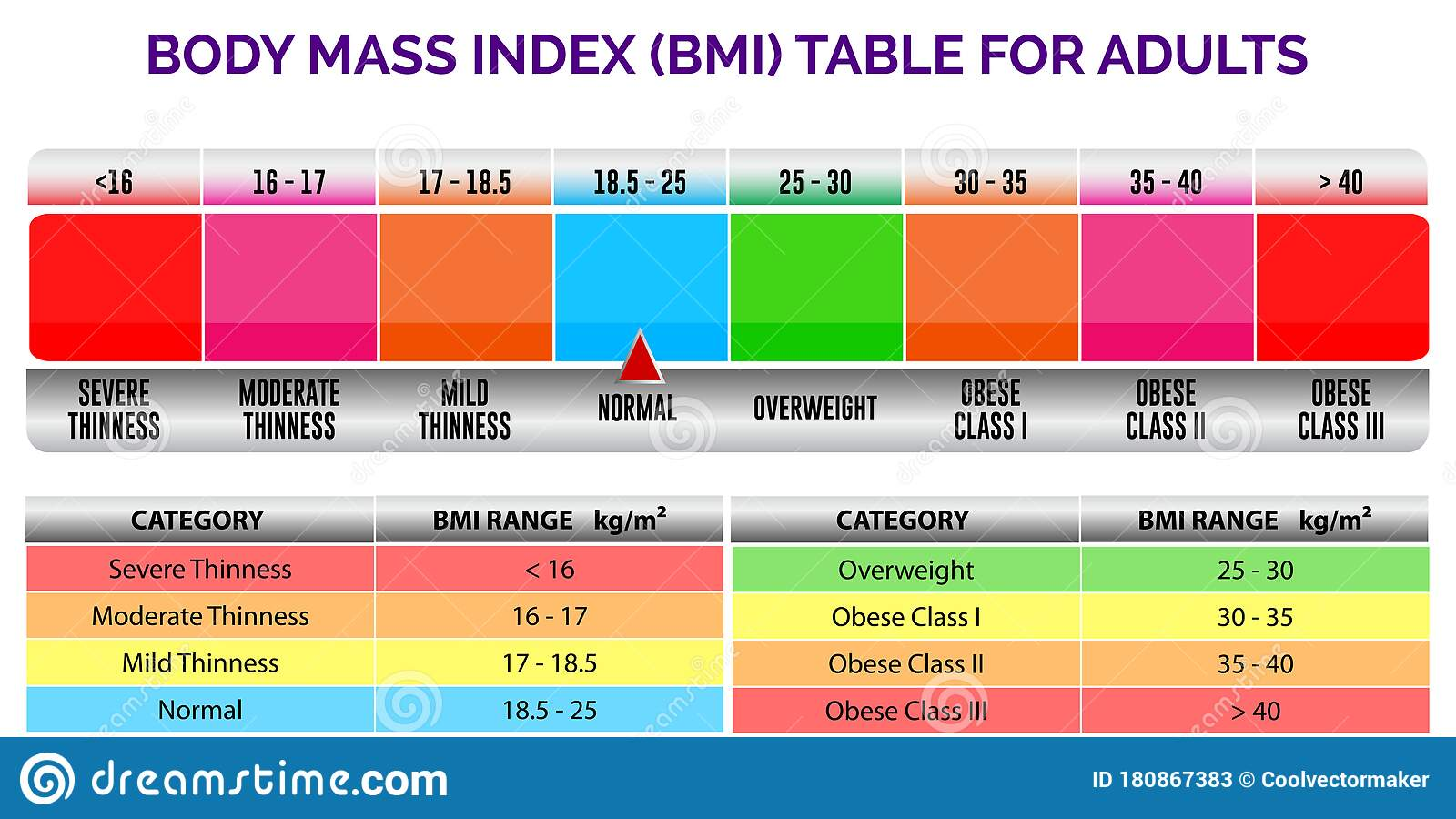 Bmi Index Scale Classification Or Body Mass Index Chart ...