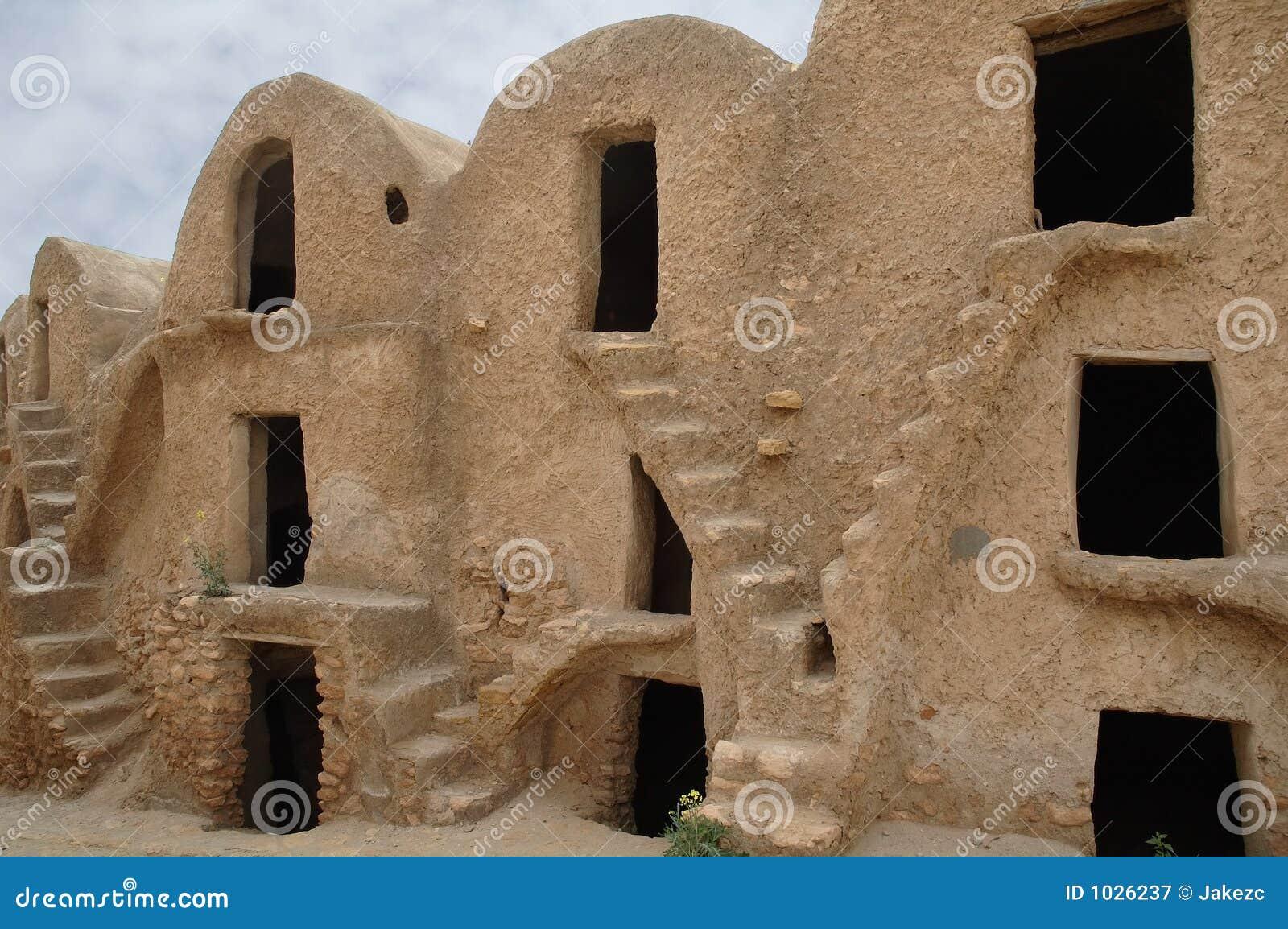Berber ενισχυμένο medenine παραδοσιακή Τυνησία σιτοβολώνων ksour