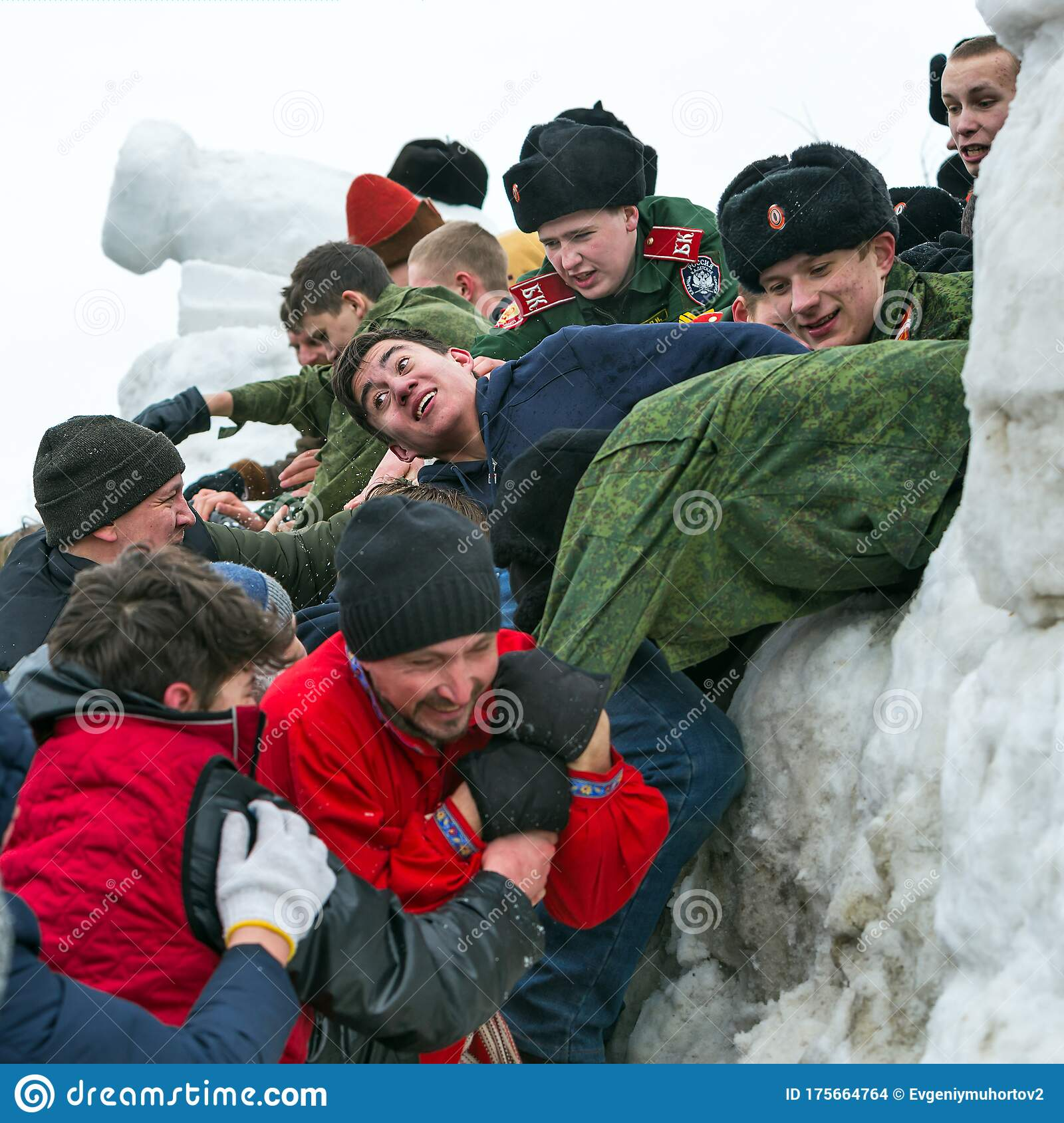 Youth In The Game Taking A Snow Town Western Siberia Russia Editorial Stock Image Image Of Youth Cadets 175664764