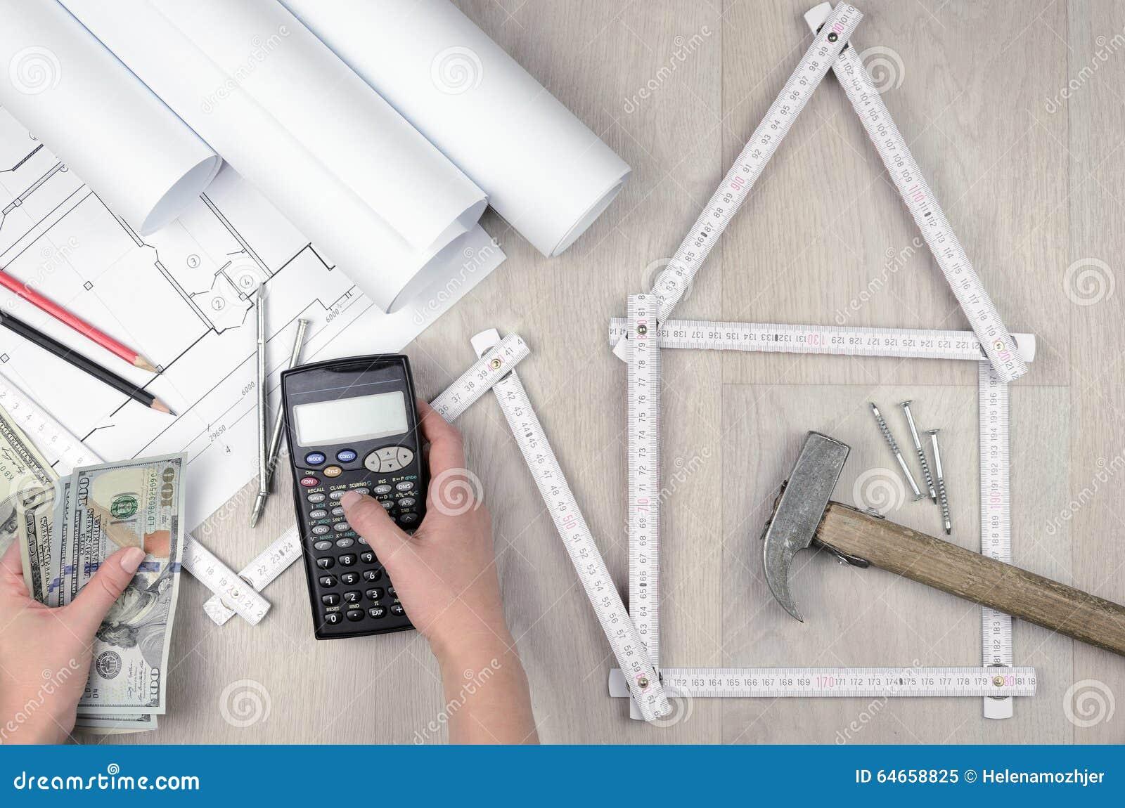Baukosten Berechnen berechnen sie die baukosten stockbild - bild von kraft, gebäude