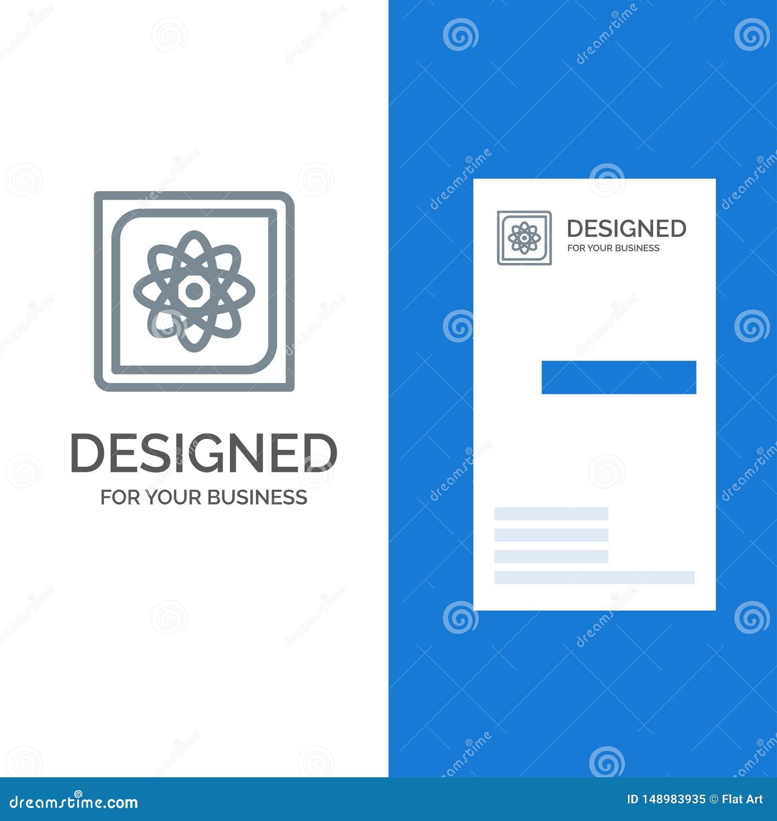 Berechnung, Computer, Datenverarbeitung, Daten, Zukunft Grey Logo Design und Visitenkarte-Schablone