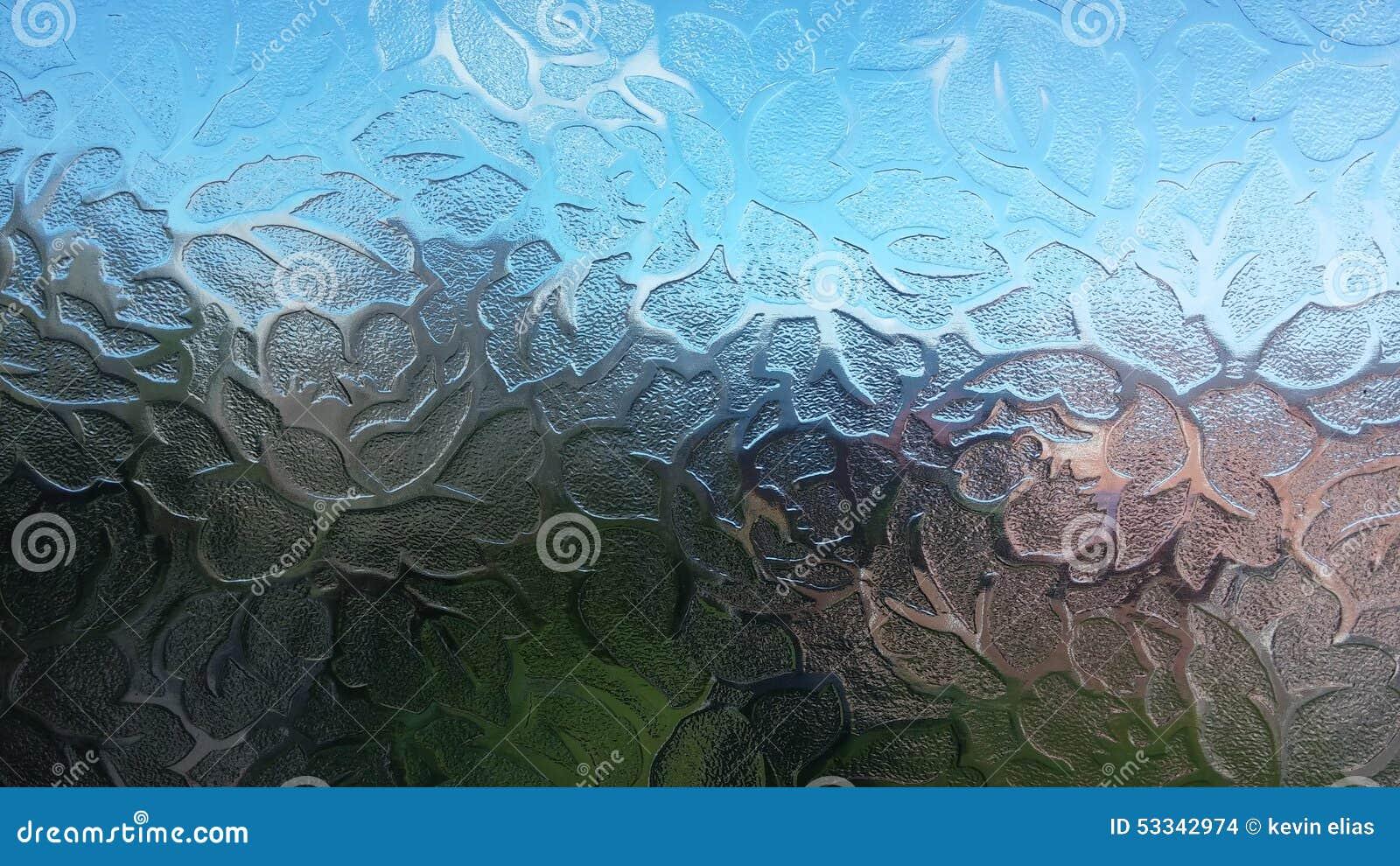 Bereiftes Glas