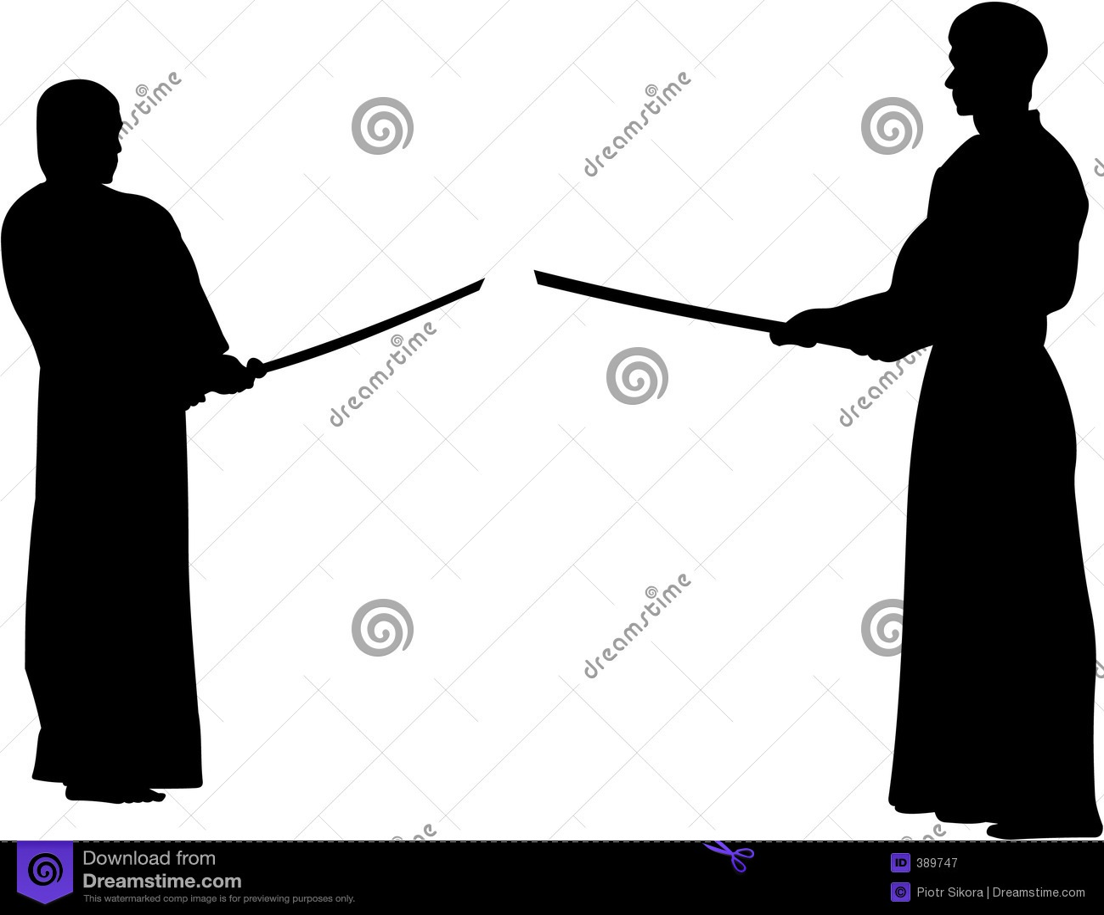Bereiten Sie vor sich zu kämpfen, kendo - Schattenbild