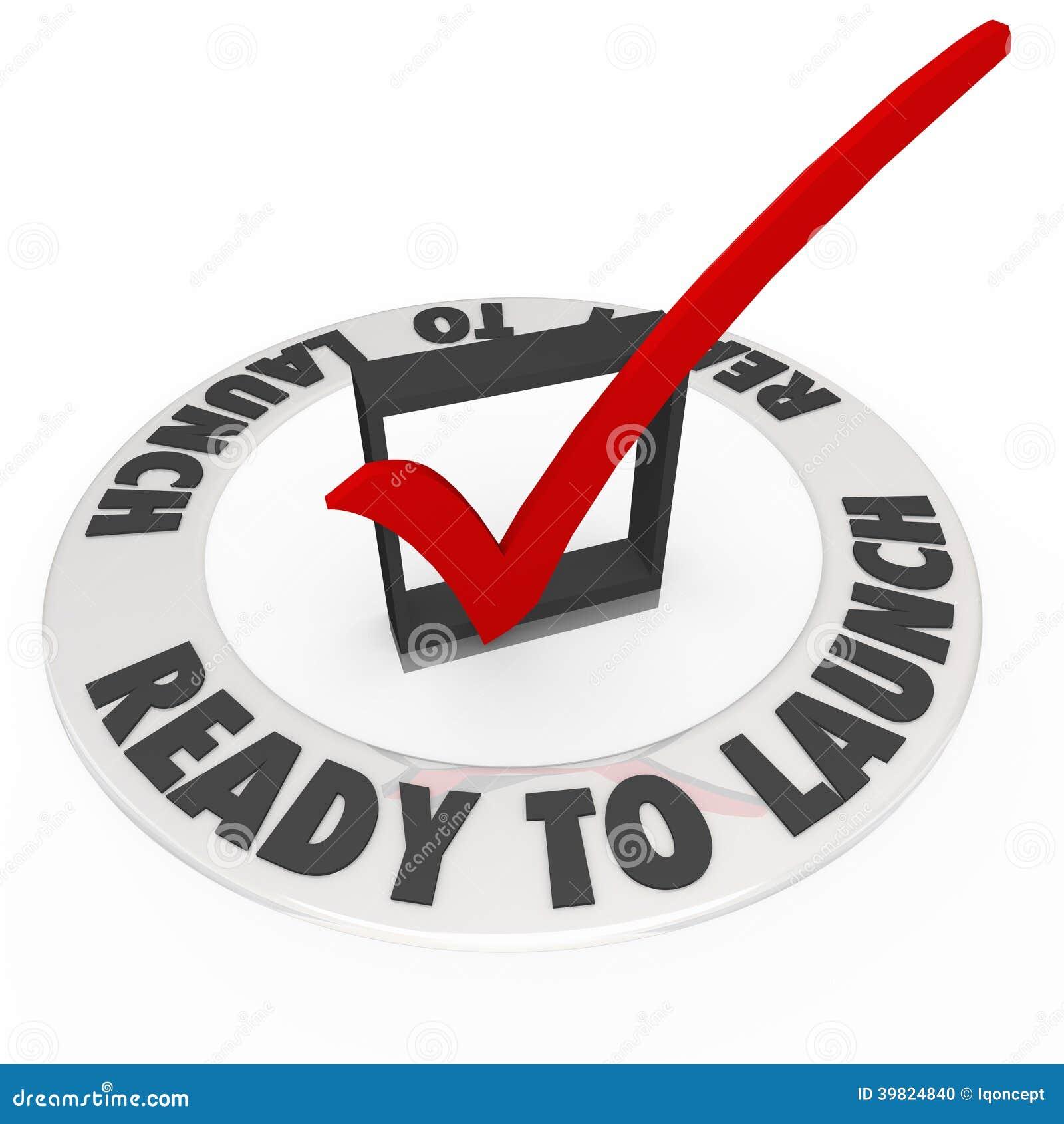Bereiten Sie vor, um Kontroll-Mark Box Words Prepared New-Geschäft zu starten