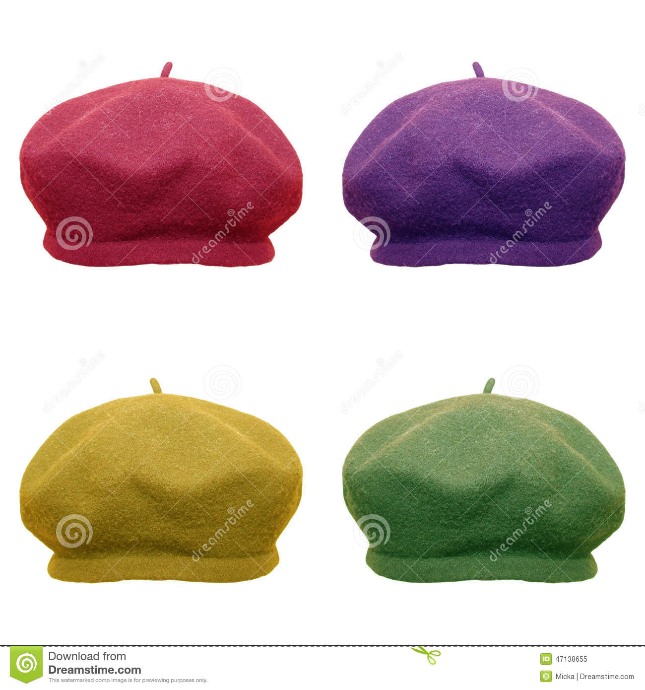 3a118d6627e Berets in modern colors stock image. Image of head