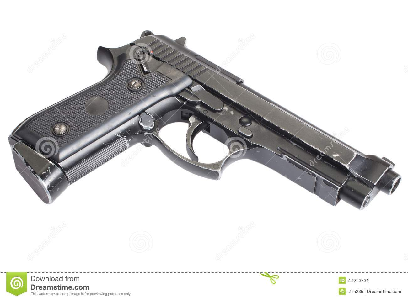 Beretta M9 gun stock image  Image of magazine, metal - 44293331