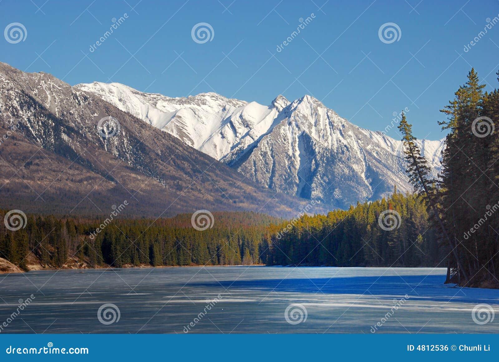 Berg en meren in Rockies
