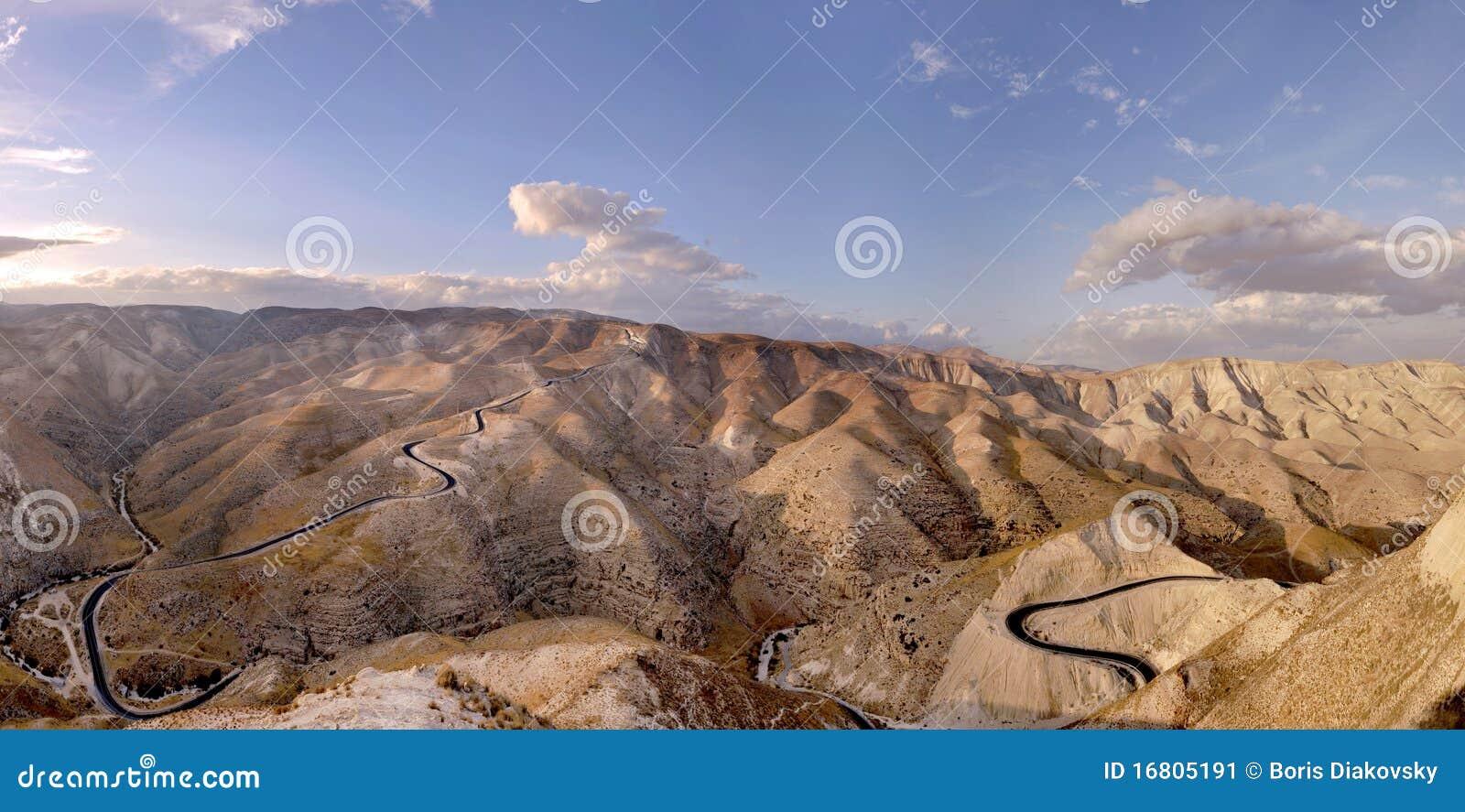 Berg för ökenisrael judea