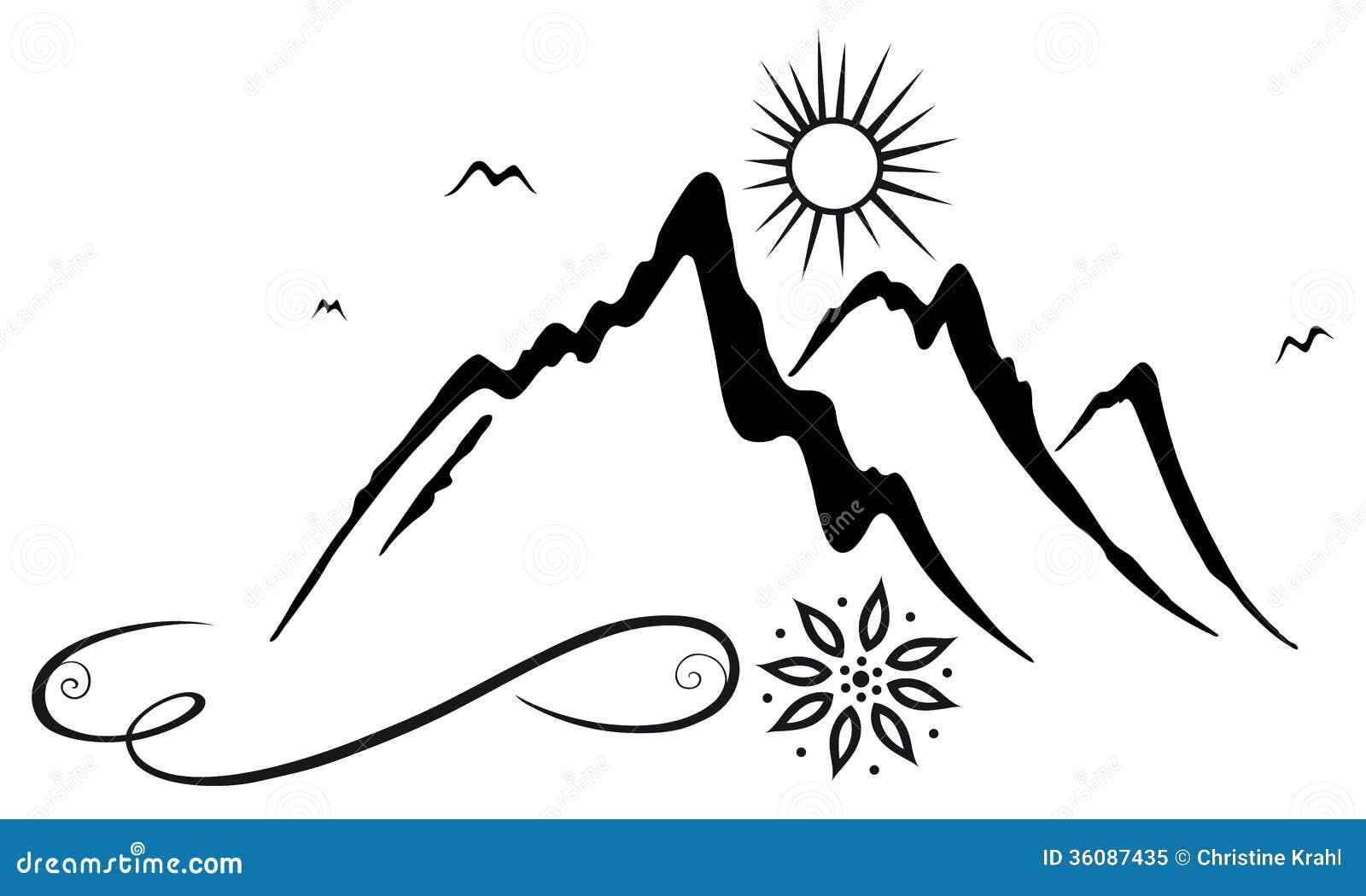 Berg fotvandrare