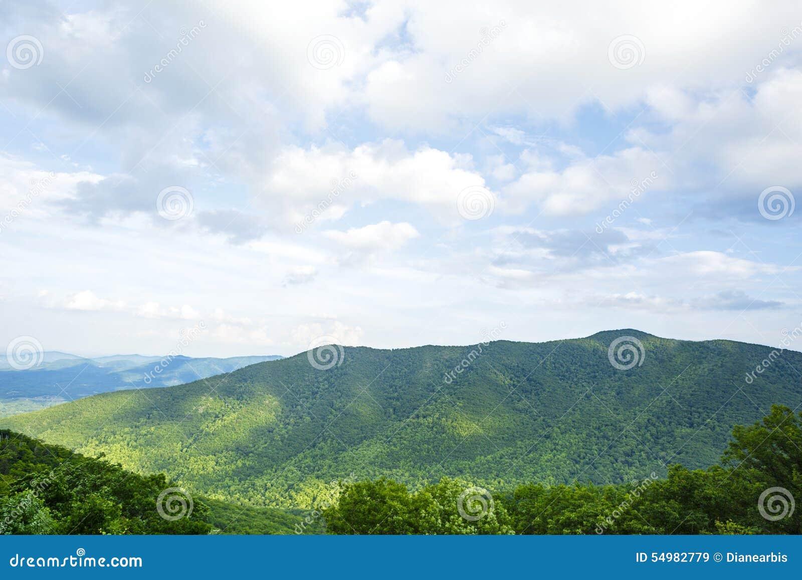 Berg i den Shenandoah nationalparken